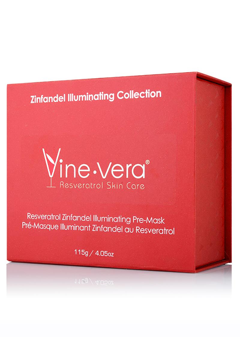 Vine Vera Zinfandel Illuminating Pre Mask in it's case
