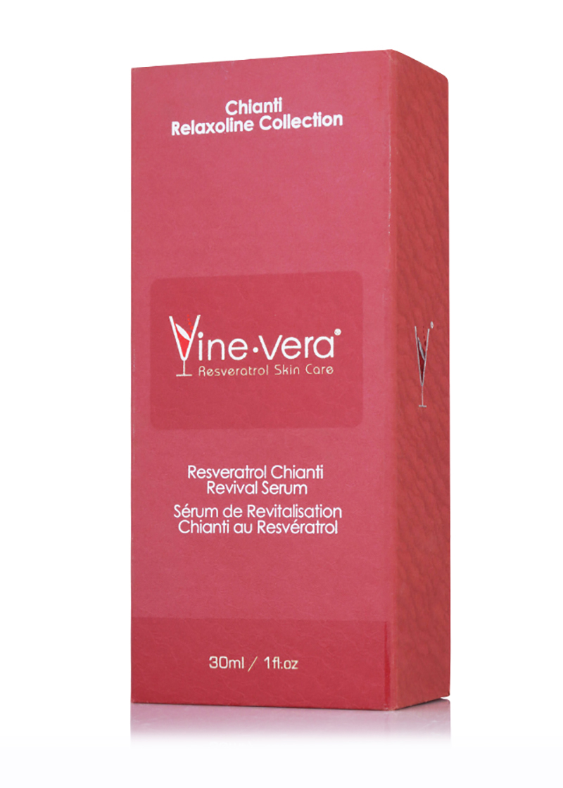 Resveratrol Chianti Revival Serum inside it's case