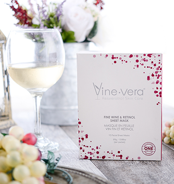vine vera next to white wine